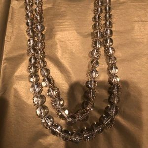Clear bead gold wrapped necklace from NY&CO